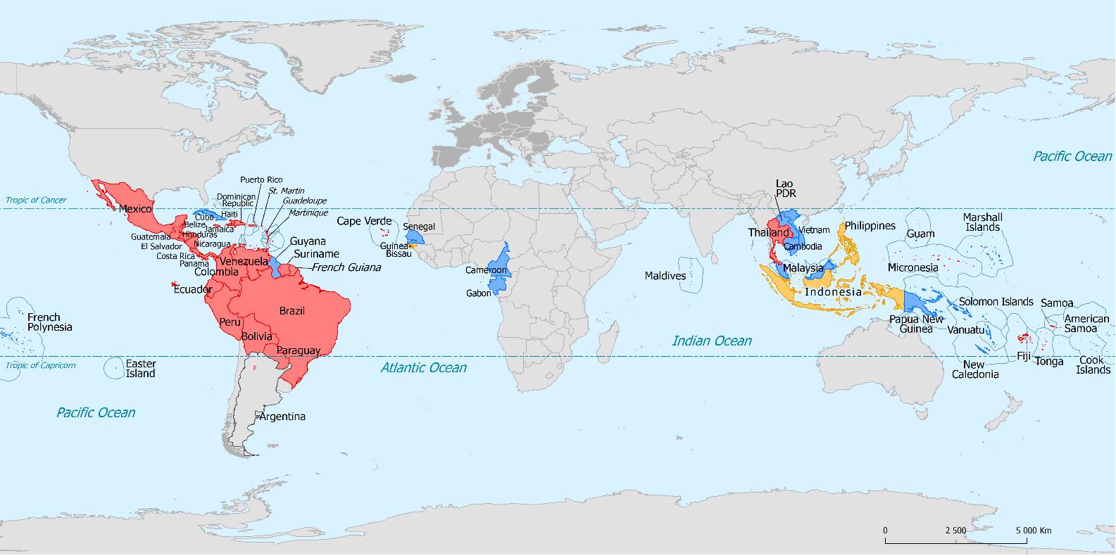 diffusione zika nel mondo