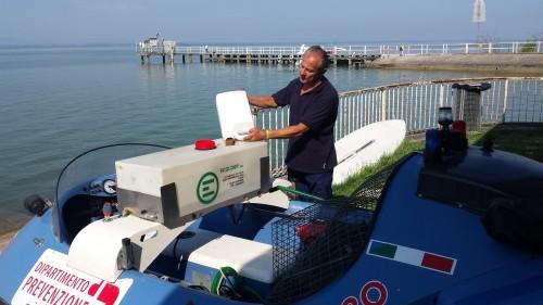 Pilota hovercraft  USL prepara il trattamento