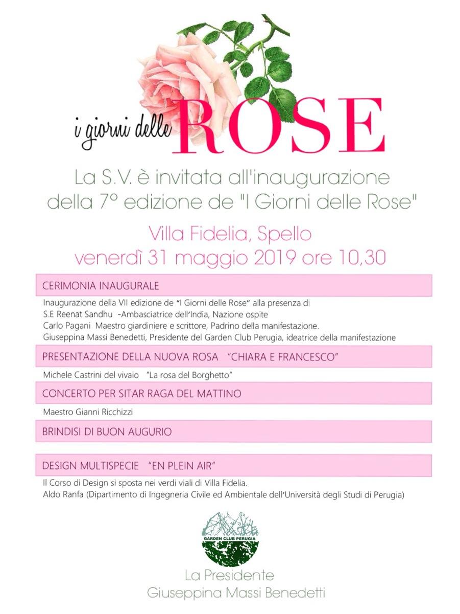 i giorni delle rose 2019